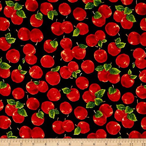Fresh Harvest Apples Multi Fabric By The - Fabric With Apples