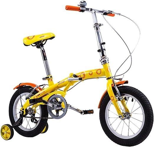 SGMYMX Bicicleta para niños Bicicleta for niños 14 Pulgadas niño niña Bicicleta 3-8 años Bicicleta Plegable for niños Bicicleta de los niños: Amazon.es: Hogar