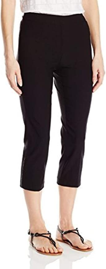 Tribal Womens Flatten It Capri Pant Casual Pants