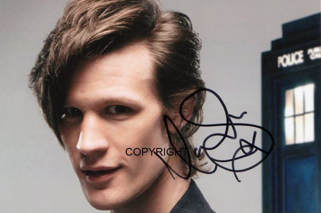 Limited Edition Matt Smith DR WHO Signiertes Foto Autogramm signiertsigniertes THEPRINTSHOP