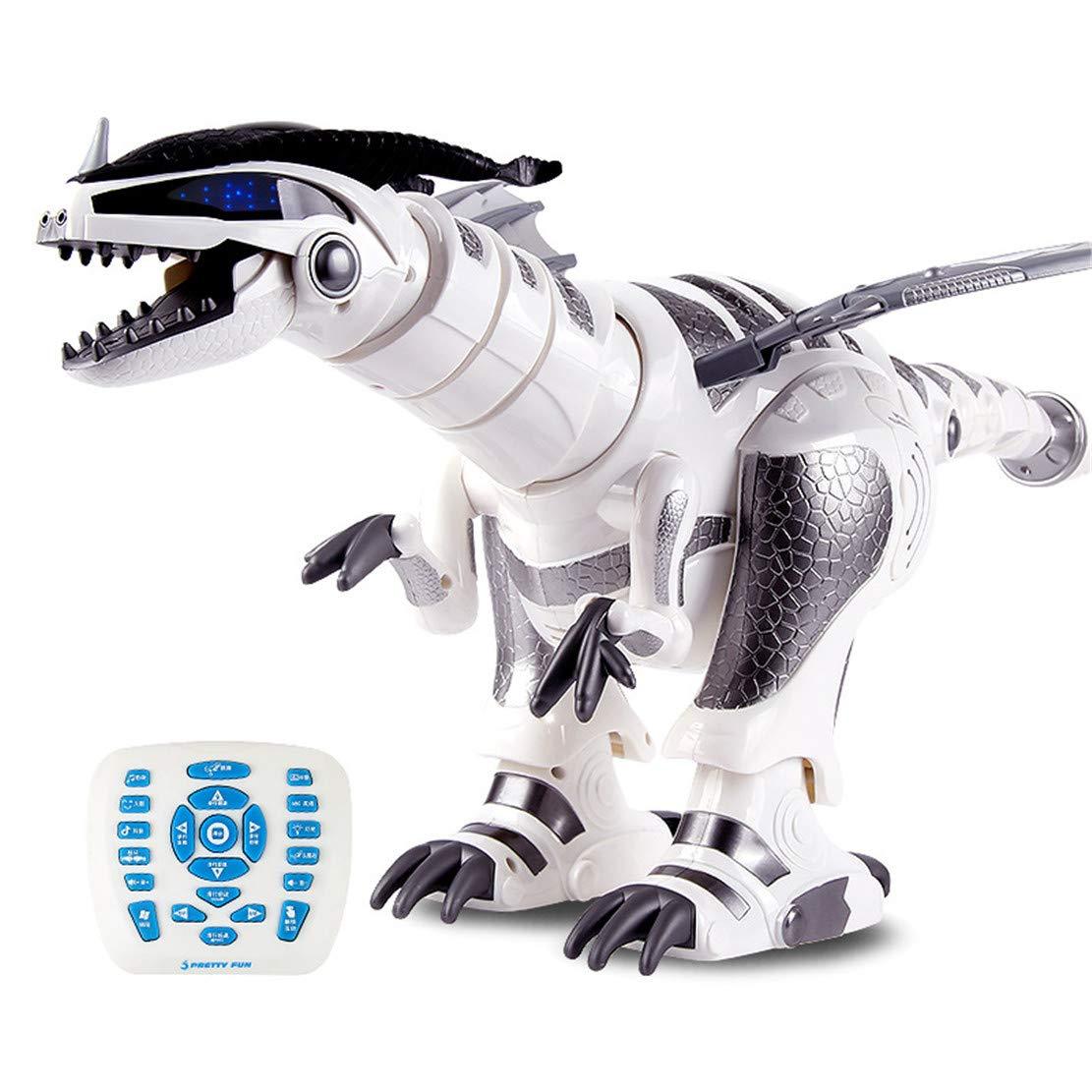 WEIGZ Elektrische Fernbedienung Dinosaurier-Spielzeug Elektro-Dinosaurier-Roboter B07MZPRH6L Spielfiguren & -fahrzeuge Öffnen Sie das Interesse und die Innovation Ihres Kindes, aber auch die Unschuld von Kindern, kindlich, glücklich | Die erste Reihe von