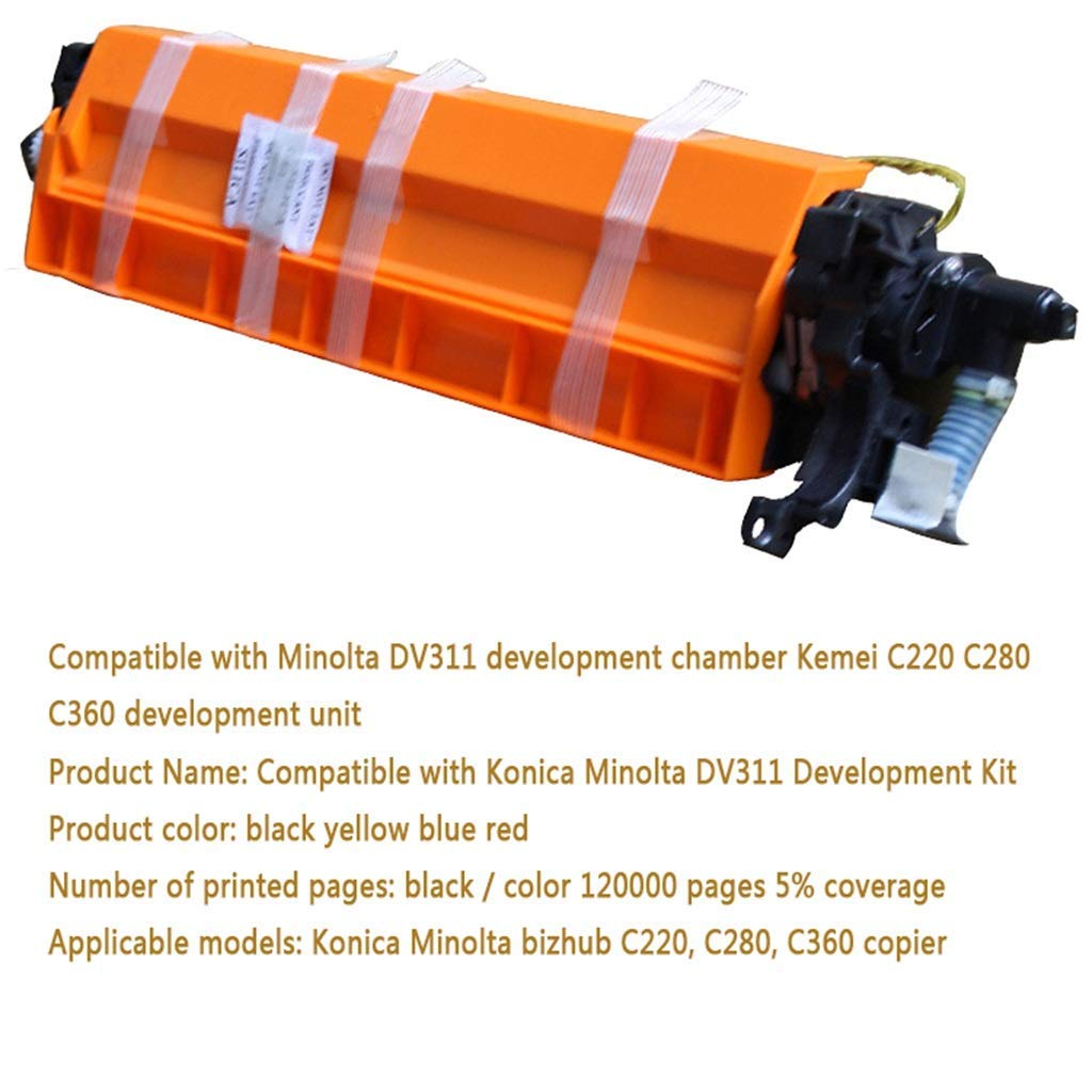 Compatible with Minolta DV311 Development Chamber Kemei C220 C280 C360 Development Unit,Blue
