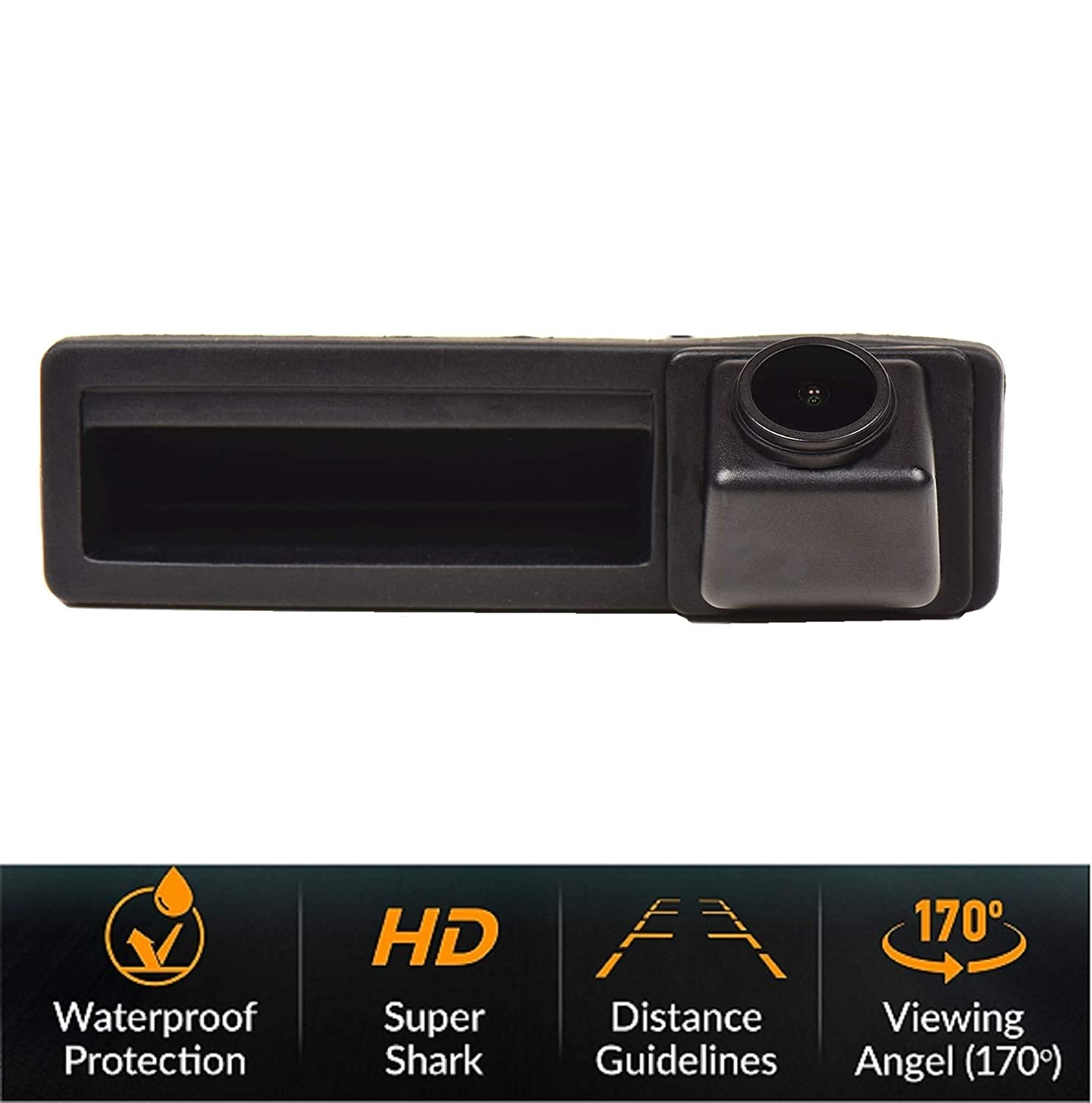 Rear Reversing Backup Camera Rearview Tailgate Handle Replacement Camera Night Vision Ip69k Waterproof for Audi A6L//Q7//A3 8P 8V //A4 B6 B7//A6L//8E //S5