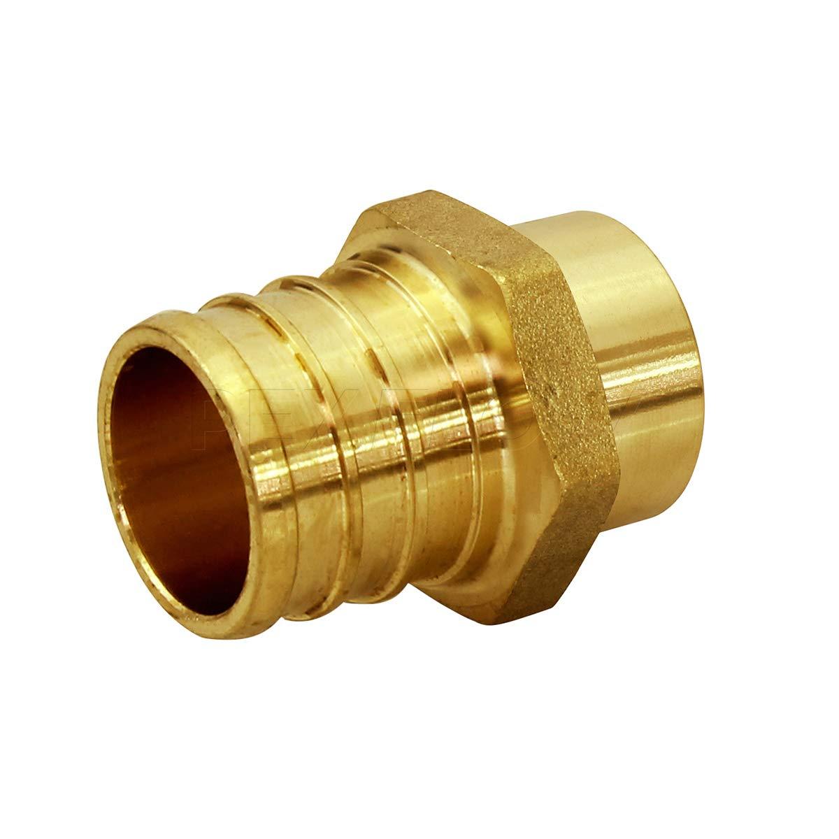 Pexflow PSMA1258-NL Male Sweat Adapter X Pex Barb Pipe Fitting 1/2'' X 5/8'' Brass