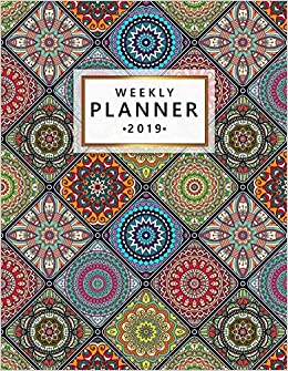 2019 Weekly Planner: Nifty Vintage Mandala Monthly and ...