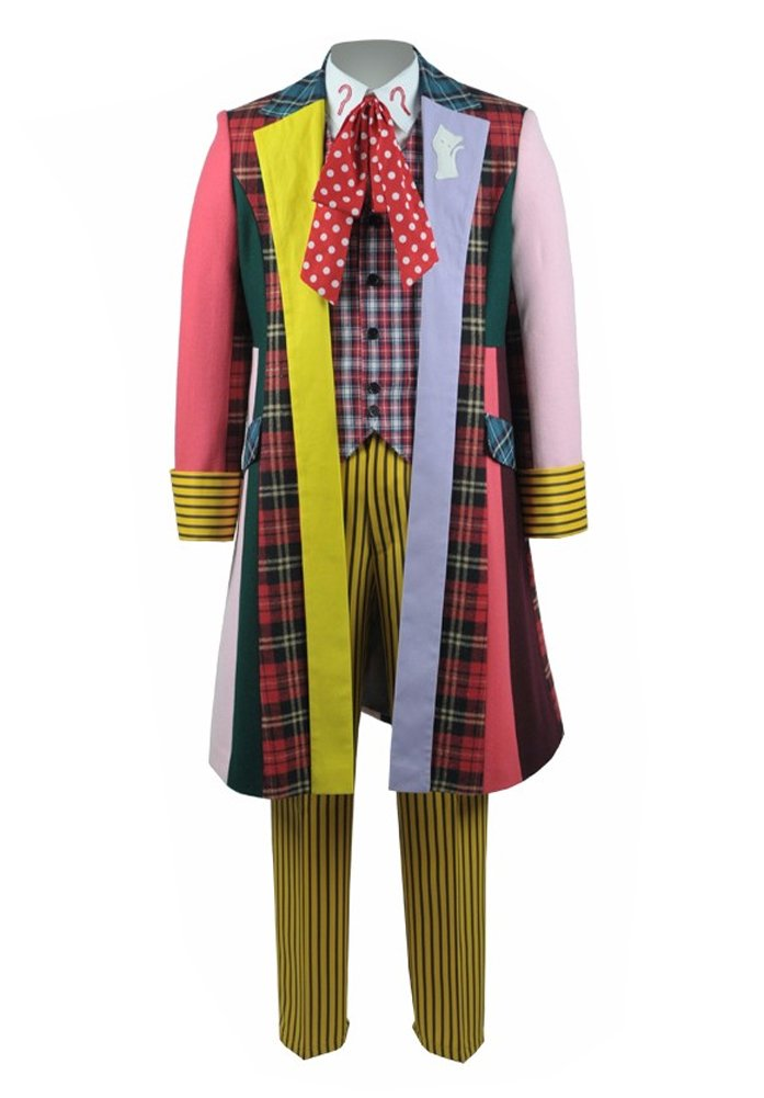 Xiao Maomi Mens colorful Stripe Coat Halloween Suit Cosplay Costume (Man-XXL, Stripe)
