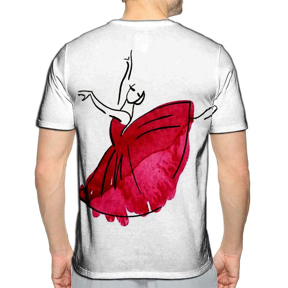 Randell 3D Printed T-Shirts Pink Flamingo Short Sleeve Tops Tees