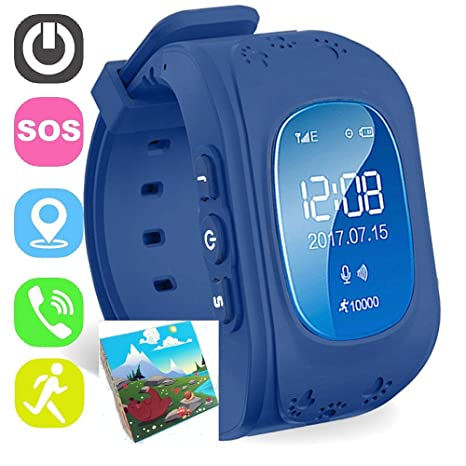 Amazon.com: Jsbaby Kids Smart Watch for Children Girls Boys Digital Watch with Anti-Lost SOS Button GPS Tracker Smartwatch Great Gift for Children Pedometer ...