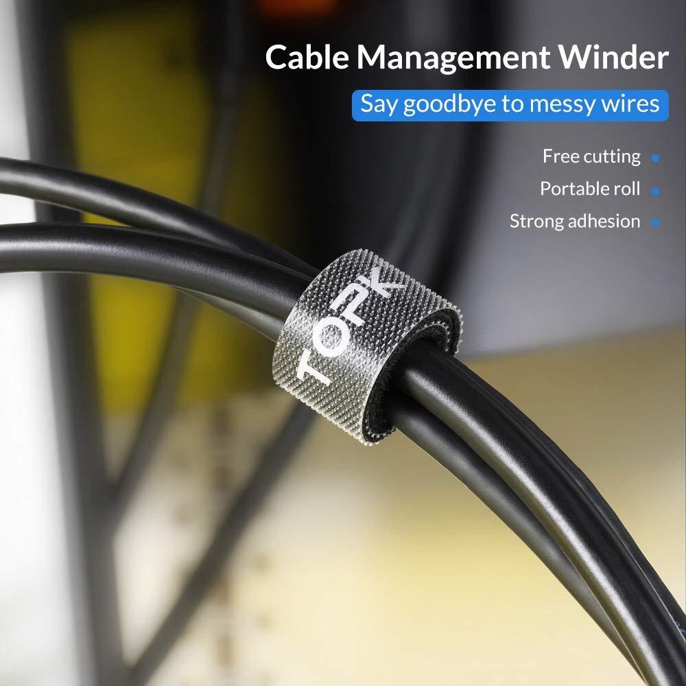 Cintas de Velcro Para Organizar Cables 4 Unidad es 11M Negro