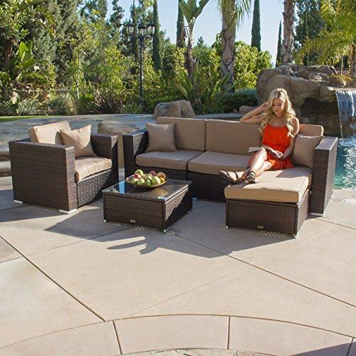 Belleze Aluminum Rattan Cushion Furniture