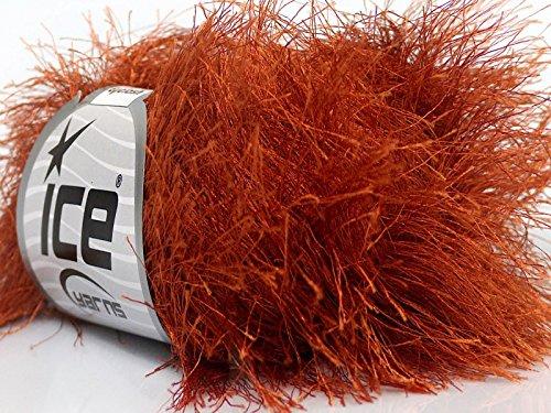 Yarn Long Eyelash (Copper Extra Long Eyelash Yarn Ice Luxurious Fun Fur 50gr 38yds)
