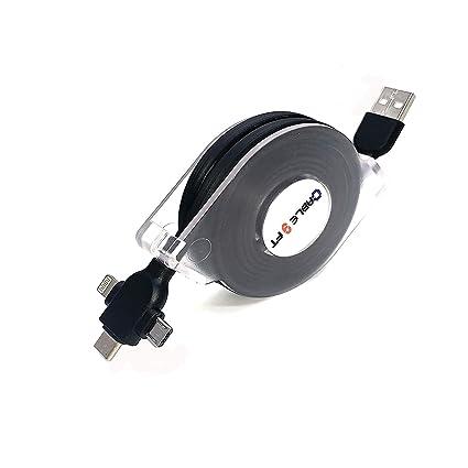 Amazon.com: DeHasion - Cable de carga multiusos retráctil ...