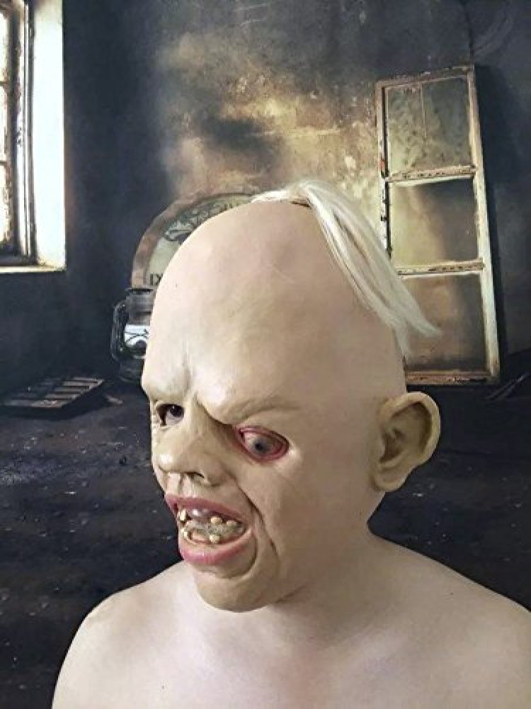 amazoncom novelty latex rubber creepy scary ugly baby head the goonies sloth mask halloween party costume decorations by bengpro toys u0026 games