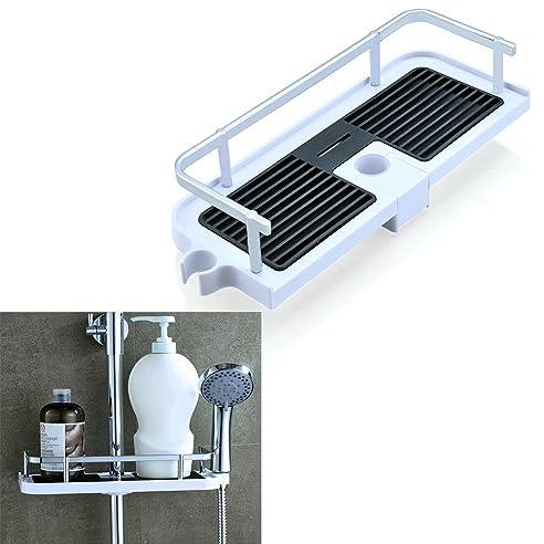 finoki duschablage duschkrbe badezimmerablage badhalter kunststoff dusche organizer fr duschgel shampoo seife papiertcher 25mm - Duschablage Kunststoff