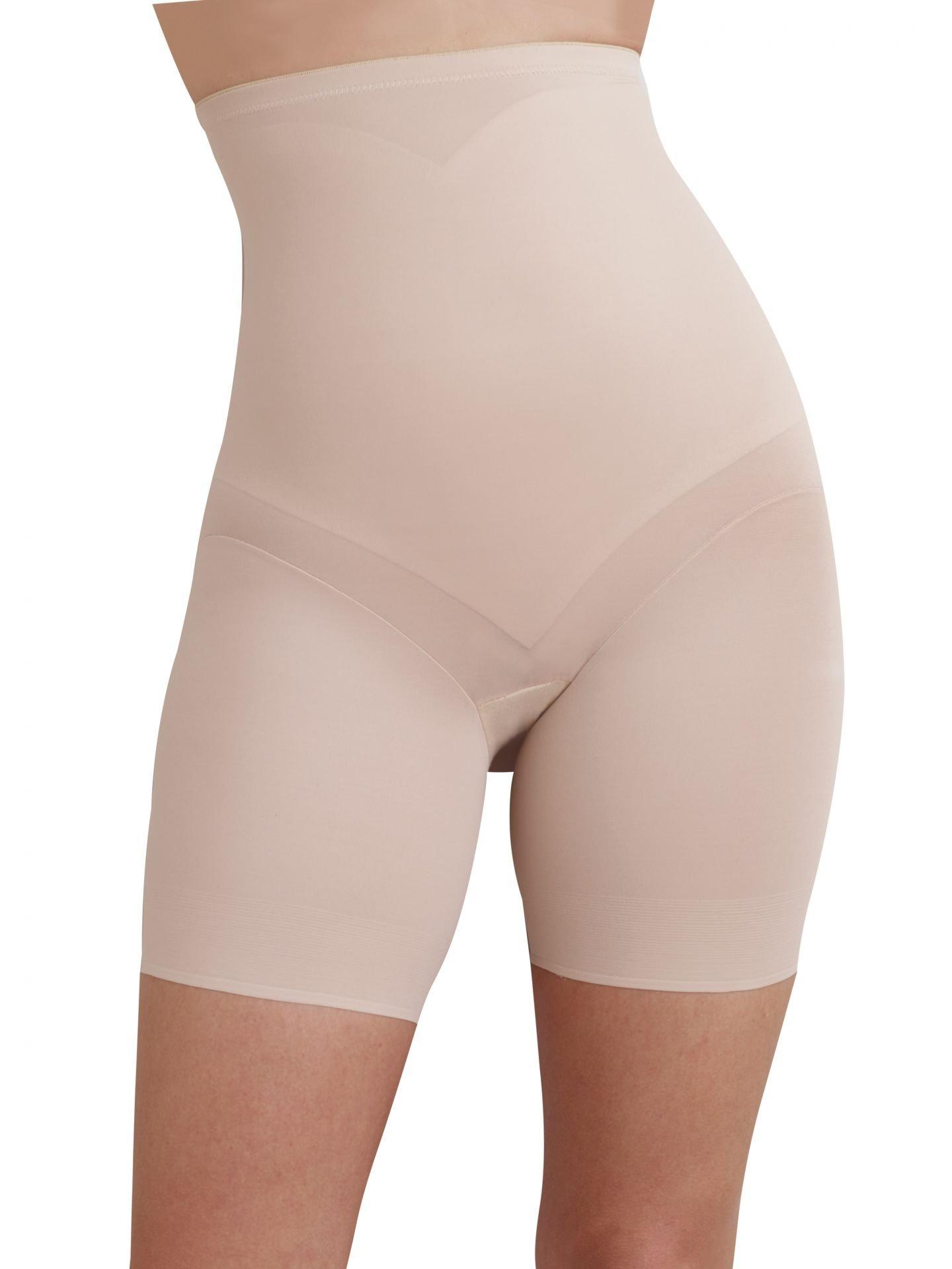TC Fine Intimates Adjust Perfect Hi Waist Thigh Slimmer, Nude, Small