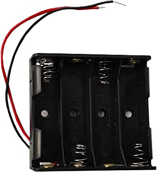 Portapilas 4 Pilas 6v Caja de batería para 4 Pilas AA 6V: Amazon.es: Electrónica