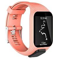 Leegoal TomTom bande de montre, Silicone ceinture de remplacement Bracelets de montre pour TomTom Runner 2 / Racer 3 / Spark 3 / Aventurier / Golfeur 2 Sports GPS Running Smartwatc