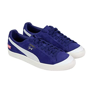 buy online 60774 eb660 Amazon.com | Puma Clyde Rt Alife Mens Blue Suede Low Top ...