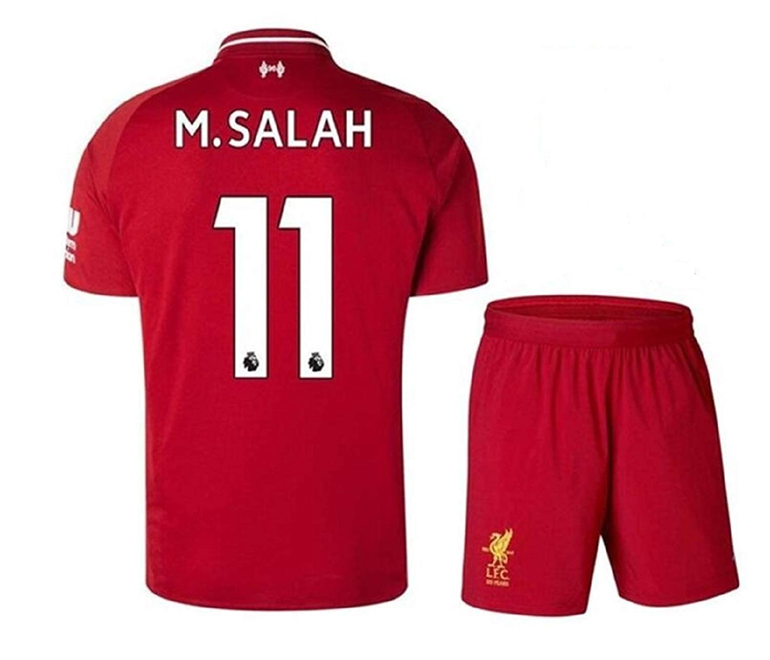 huge selection of 11c33 e26a5 Liverpool Home Jersey #11 M Salah 2018-2019 Kid's Soccer Jersey Red(S-XL)