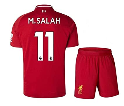 huge selection of 49397 ada00 Liverpool Home Jersey #11 M Salah 2018-2019 Kid's Soccer Jersey Red(S-XL)