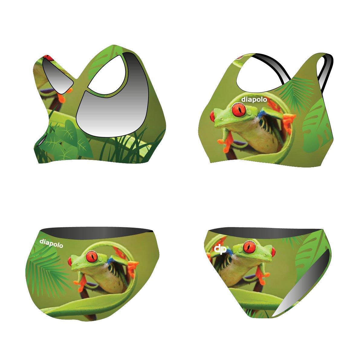 Diapolo Frog 1 Sport-Bikini Zweiteiler aus der Wild Animals Kollektion für Schwimmen Synchronschwimmen Wasserball Thriathlon