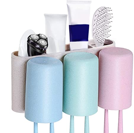 Toothbrush Holder Toothpaste Storage Organizer Stand Cup Rack Case for Bathroom