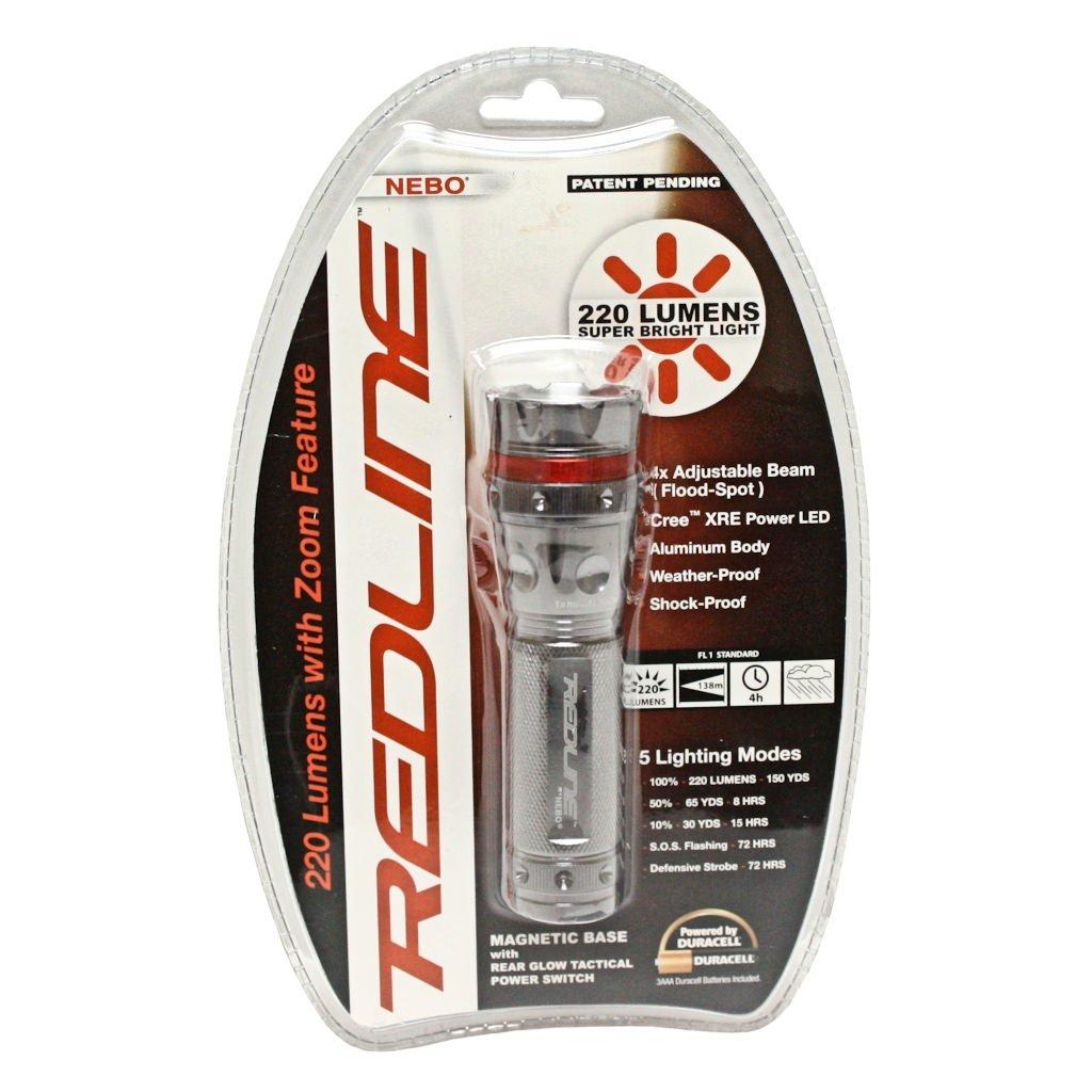 Nebo 5581 220 Lumen Redline Tactical Flashlight Strobe Sos Basic Lampu Senter Kecil 9 Led Sj0020 Handheld Flashlights