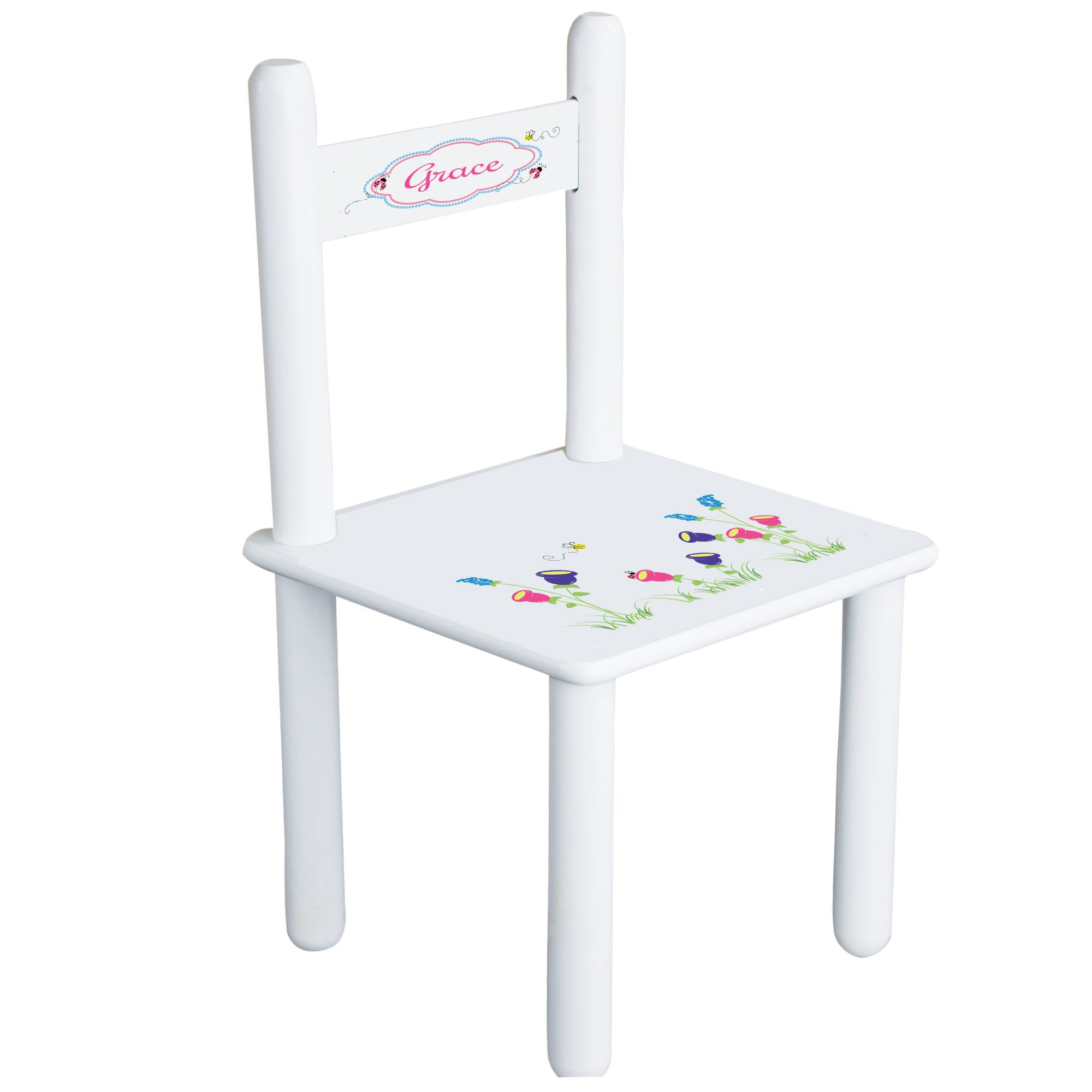 Personalized English Garden Child's Chair - white