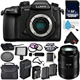Panasonic Lumix DC-GH5 Mirrorless Micro Four Thirds Digital Camera (Body Only) + Panasonic Lumix G Vario 45-200mm Lens + 128GB Class 10 Memory Card Bundle
