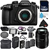 Panasonic Lumix DC-GH5 Mirrorless Micro Four Thirds Digital Camera (Body Only) + Panasonic Lumix G Vario 45-200mm Lens + 128GB Class 10 Memory Card Bundle For Sale