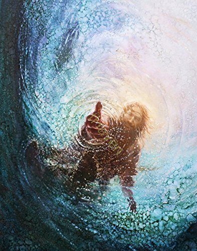 Christian Kitchen Decor Wall Art Picture, Faith Inspirational Gifts - The Hand of God by Yongsung Kim Print ONLY (11 x 14) by Yongsum Kim