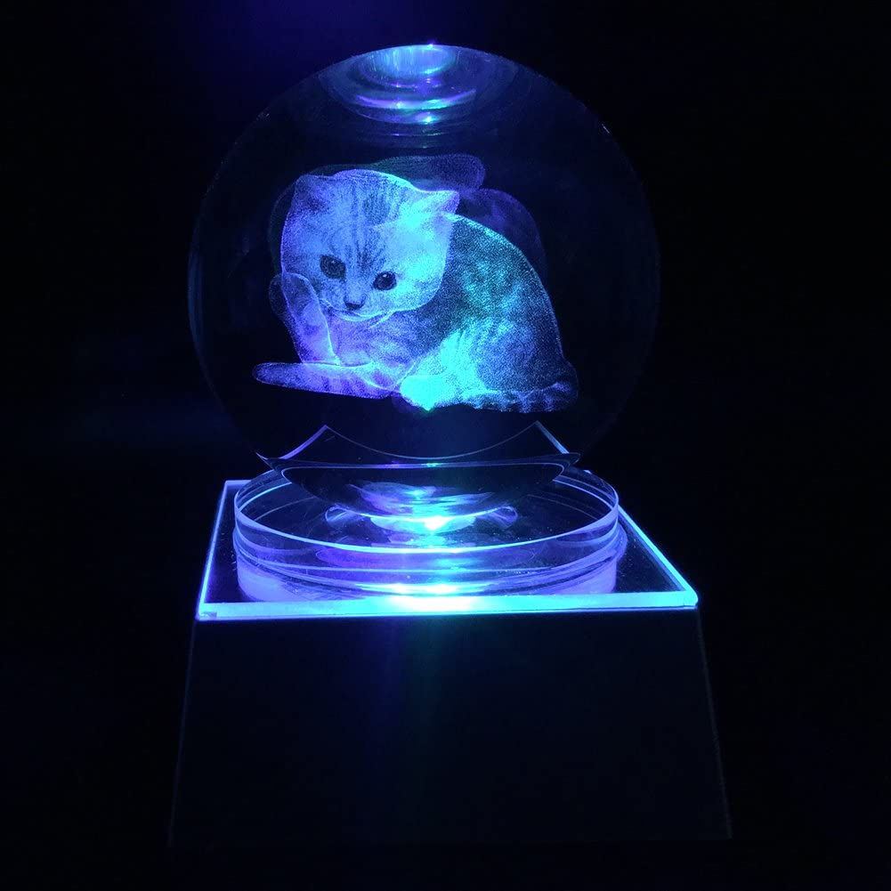 JINGDIAN Crystal LED Cat W Multicolor Home Decoration Ball