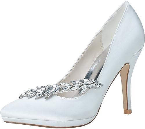 d4858e75 Find Nice - Sandalias con cuña de Satén Mujer: Amazon.es: Zapatos y  complementos
