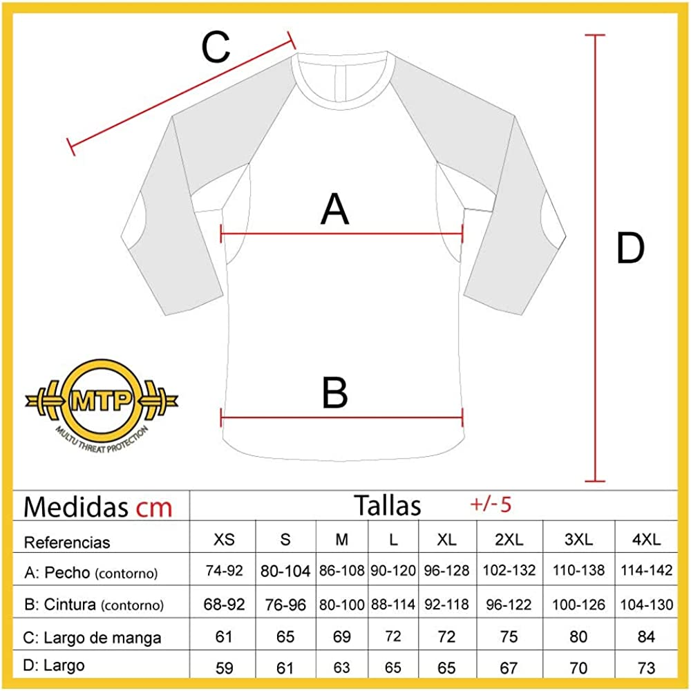 MTP Camiseta anticorte Nivel 5 Manga Corta Talla XS: Amazon.es: Ropa y accesorios