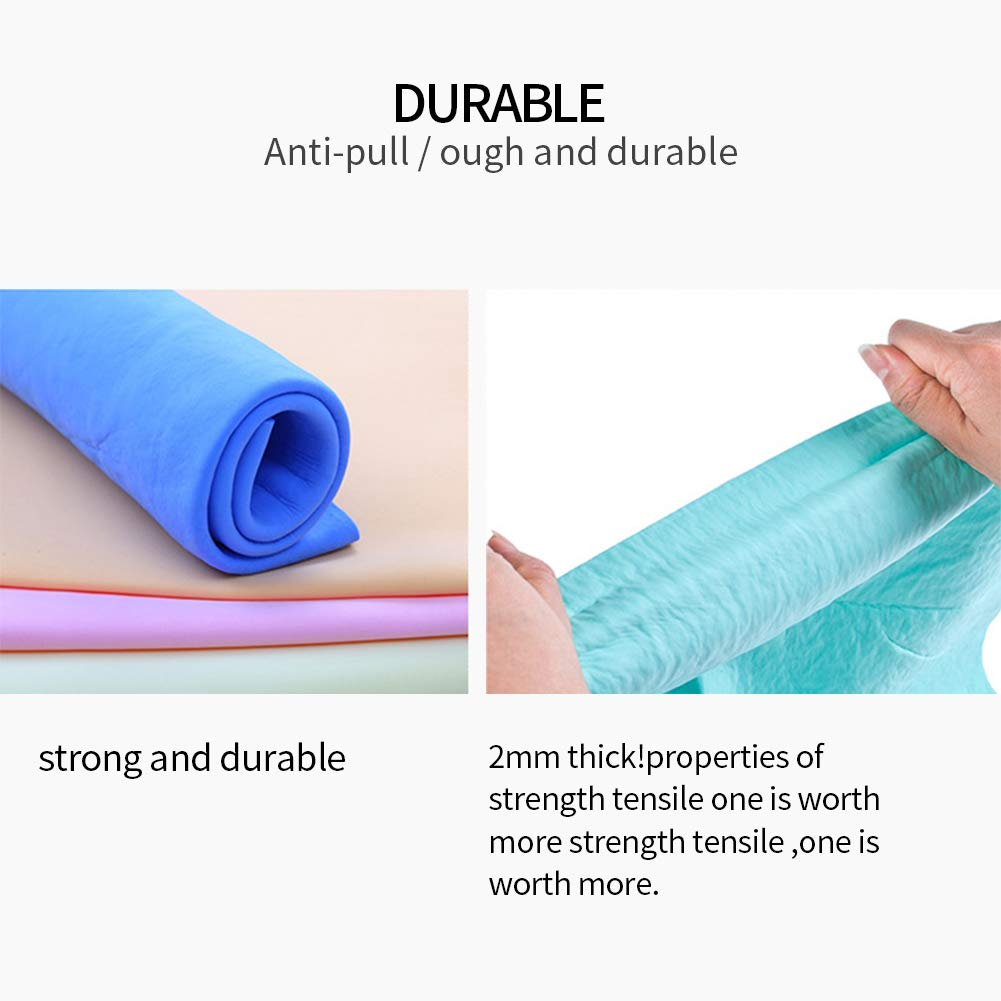 Super Absorbent Synthetic Drying Chamois Shammy Towel,Suitable for Cars、Hair、Windows、Glass、Computer、Pet、Floor、Body Random Color 2 PCS XINSTAR Scouring Pad Chamois Cloth for Car