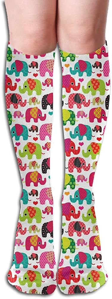 Tube High Elephant Pattern Keen Sock Boots Compression Long Stockings For Athletics,Travel Socks