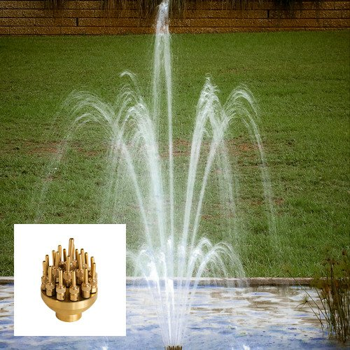 Aquacade Fountains Brass DS25 1'' 3 Tier Adjustable Fountain Nozzle by AQUACADE FOUNTAINS