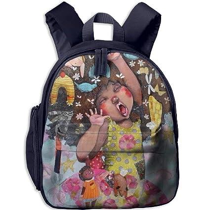 675c1955a4b9 Amazon.com : caldocaey Kindergarten Backpack African American Girl ...