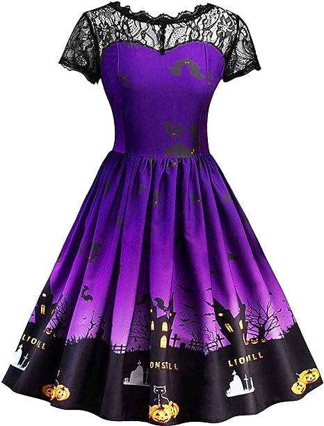 Vestido de Halloween para mujer, vestido de calavera, falda de ...