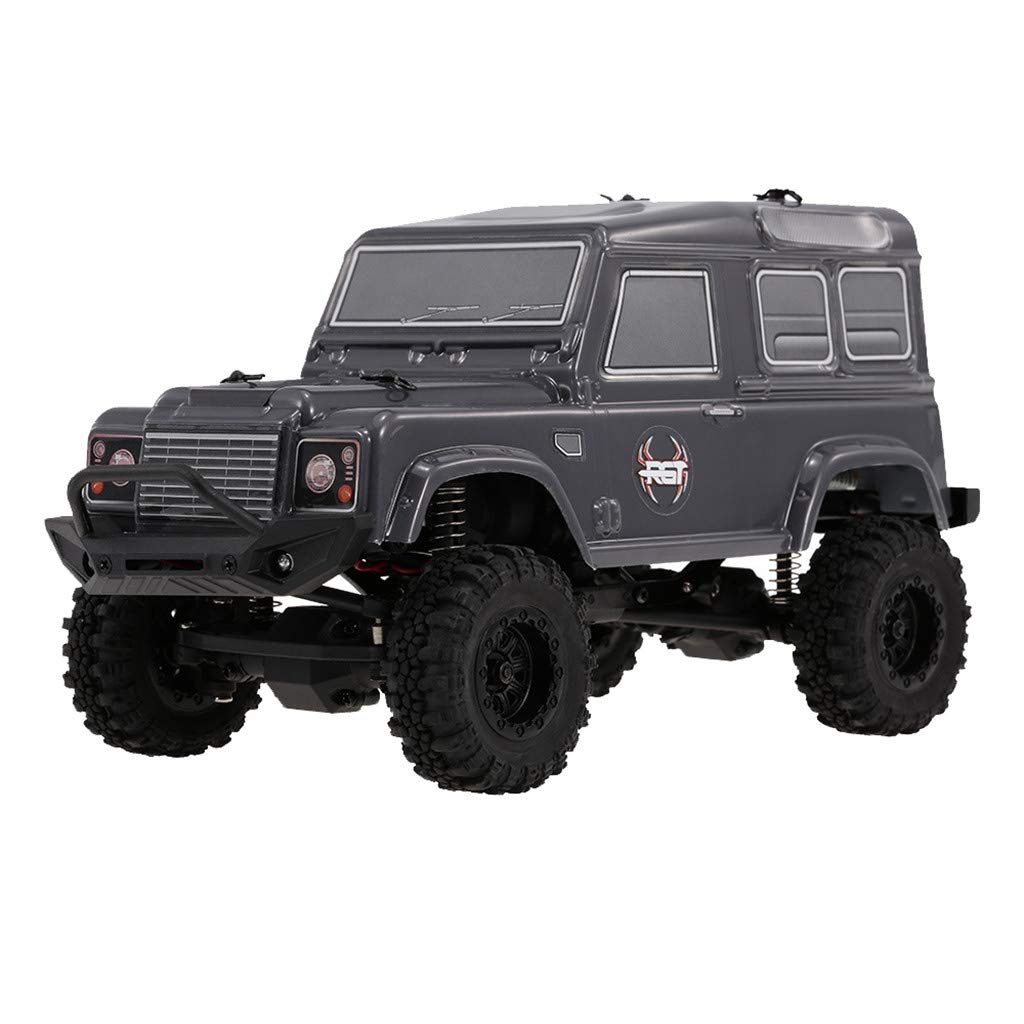 Hisoul Hot  RGT 136240 1/24 RC Rock Crawler Off-Road Buggy 2.4G 4WD 15KM/H Rechargeable Electric RC Off-Road Car with LED Headlights, Best Birthday Gifts for Boys and Girls (♥ Black)