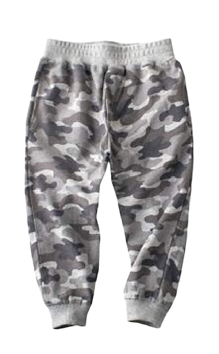 Sweatwater Boys Elastic Waist Trousers Camouflage Sport Jogger Pants