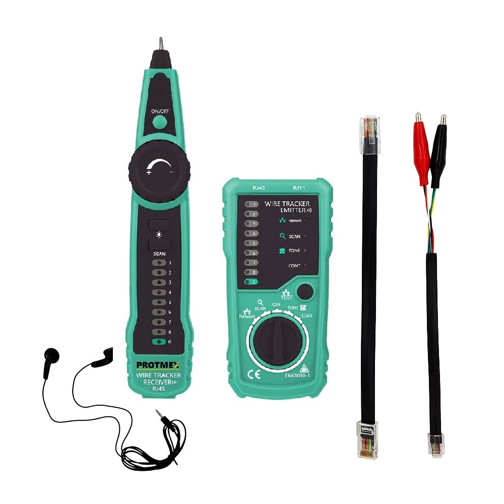Agoka Cable Finder, Rj45 Network Cable Tester, (Rj 11 Telephone Line ...