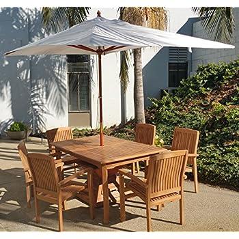 New Wooden 10 Ft Rectangle Sunbrella Fabric Any Color Outdoor Umbrella  (6.5u0027 X 10