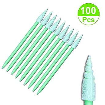 100pcs Spiral Tip Foam Swab Cleaning Swabsticks for Camera,Gun,Optical  Lens,Inkjet Printer,Electronics, Detailing Small Hole and Hard-to-Reach Area