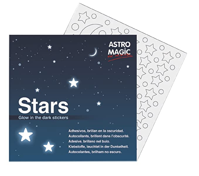 Melquiades - Estrellas Luminiscentes Adhesivas 126 unidades - Las auténticas pegatinas de Estrellitas Luminosas de AstroMagic - 100 x 100 original