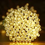 LightsEtc 100 LED Solar String Lights, 39-Feet, Warm White