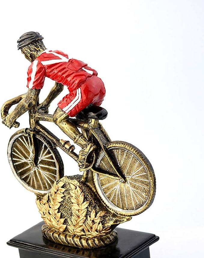 GYFSLG Bicicleta Trofeo Decoración del Hogar Resina Artesanía Bicicleta Carrera Ciclismo Entusiastas Premio Base Puede Ser Letras: Amazon.es: Deportes y aire libre