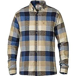 Fjallraven Men's Ovik Big Check Long Sleeve Flannel Shirt, Deep Red, Large