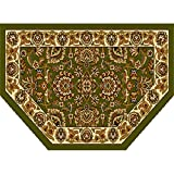 Home Dynamix HD998-415 Royalty Collection Hearth Area Rugs, 23-Inch, Green/Ivory