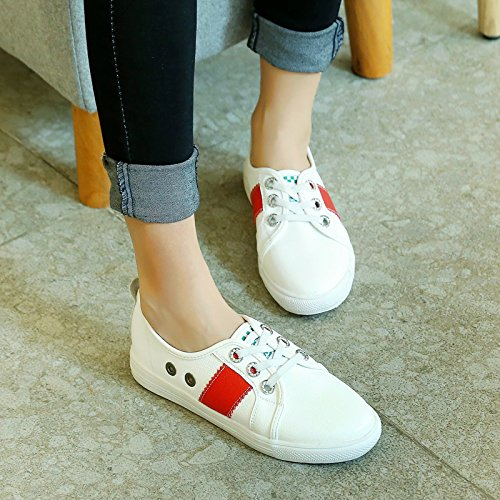 Show Skateboarding Shine Lace Shine Womens Up Lace Womens Leisure Leisure Shoes Show Red pqqxvtI